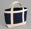 Buaisou - Medium Canvas Tote Bag, Indigo / Natural Handles -