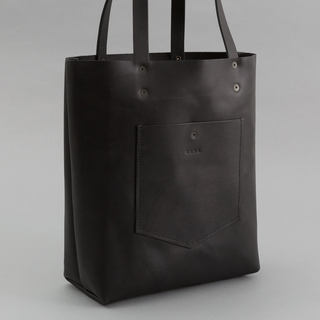 DVH Co - Leather Tote, Black - image 1