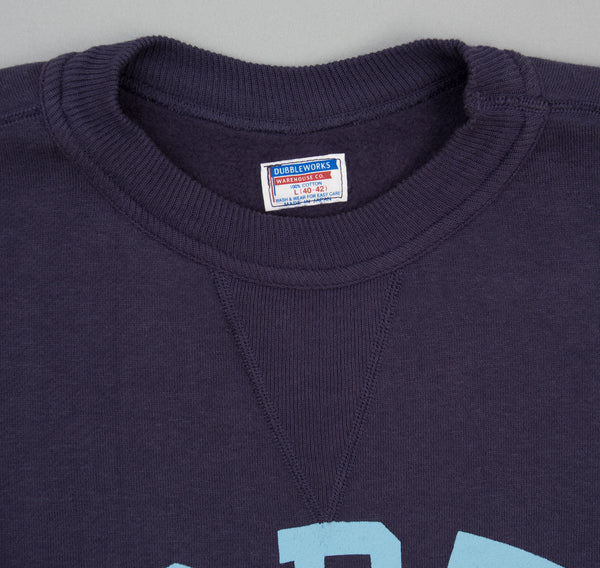 "Lot 82001 ""North"" Crew Neck Sweatshirt, Navy / Light Blue"