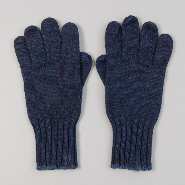 Fox River - Ragg Wool Gloves, Indigo Overdyed - image 1