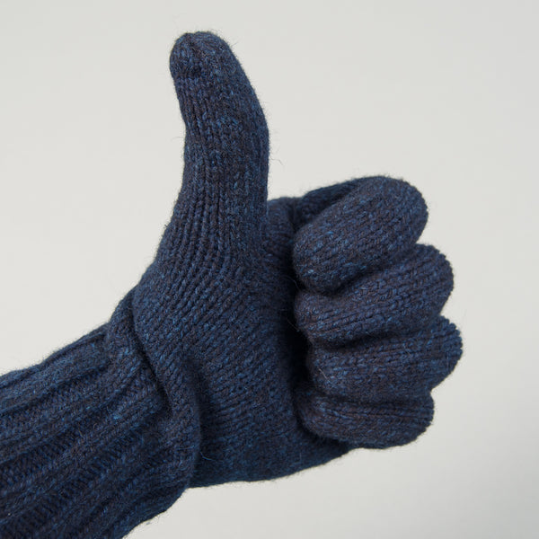 Fox River - Ragg Wool Gloves, Indigo Overdyed - image 2