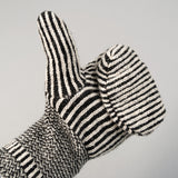 Fox River - Striped Wool Mittens, Black & White - image 2
