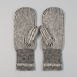 Fox River - Striped Wool Mittens, Black & White - image 3