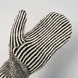 Fox River - Striped Wool Mittens, Black & White - image 4