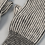 Fox River - Striped Wool Mittens, Black & White - image 5