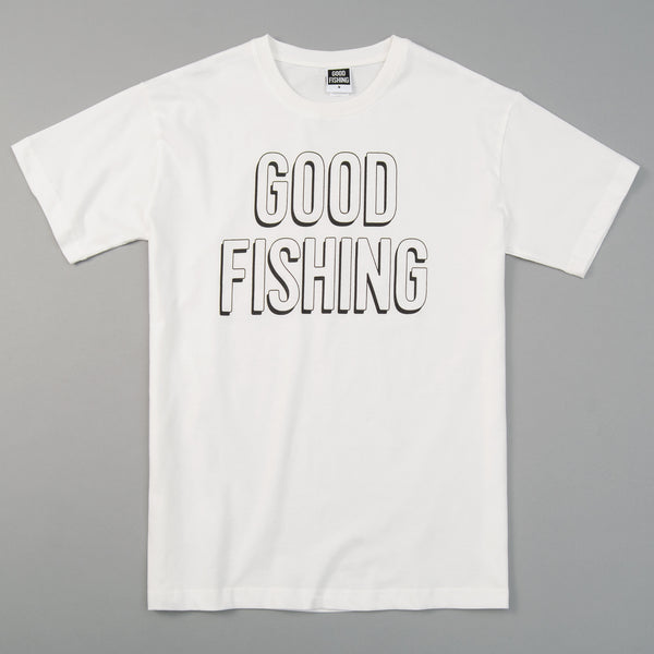 Good Fishing Standard Logo T-Shirt, White