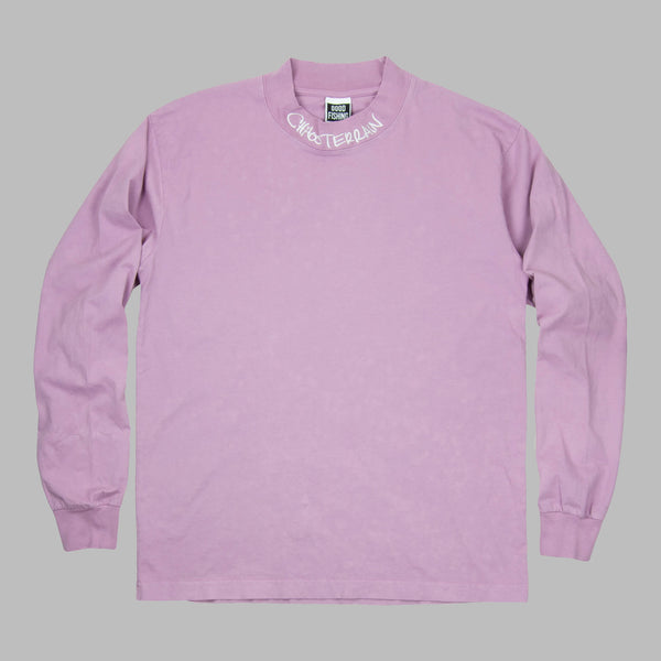 Chaos Terrain Mock Neck L/S T-Shirt, Cosmic Purple - GOOD FISHING