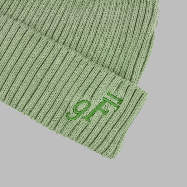 gF Logo Beanie, Olive - GOOD FISHING