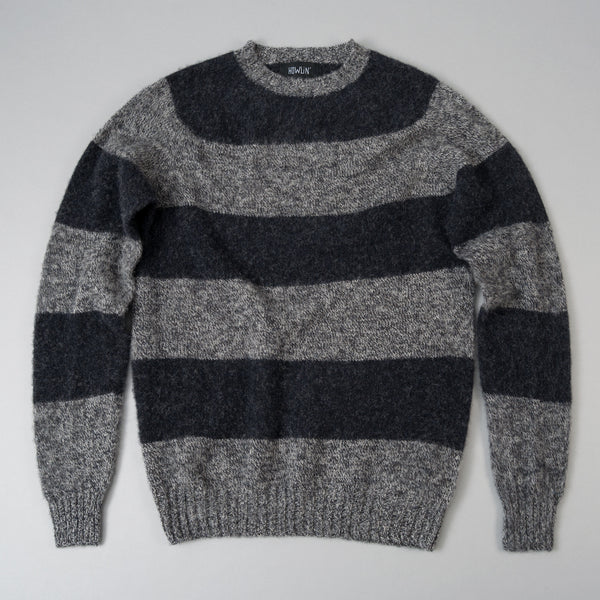 Howlin' - Little Walter Sweater, Grey Mix / Charcoal Stripe - image 1