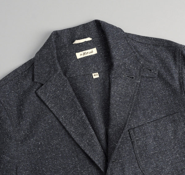 The Hill-Side Cotton Herringbone Tweed Tailored Jacket, Navy
