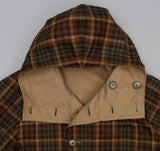 Kaptain Sunshine - Reversible Mt. Coat, Khaki / Brown Check - image 5