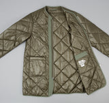 Quilted Zip Cardigan, Olive