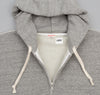 Wool / Cotton Hooded Zip Sweatshirt, Grey