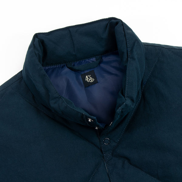 Kaptain Sunshine - Highneck Down Vest, Navy