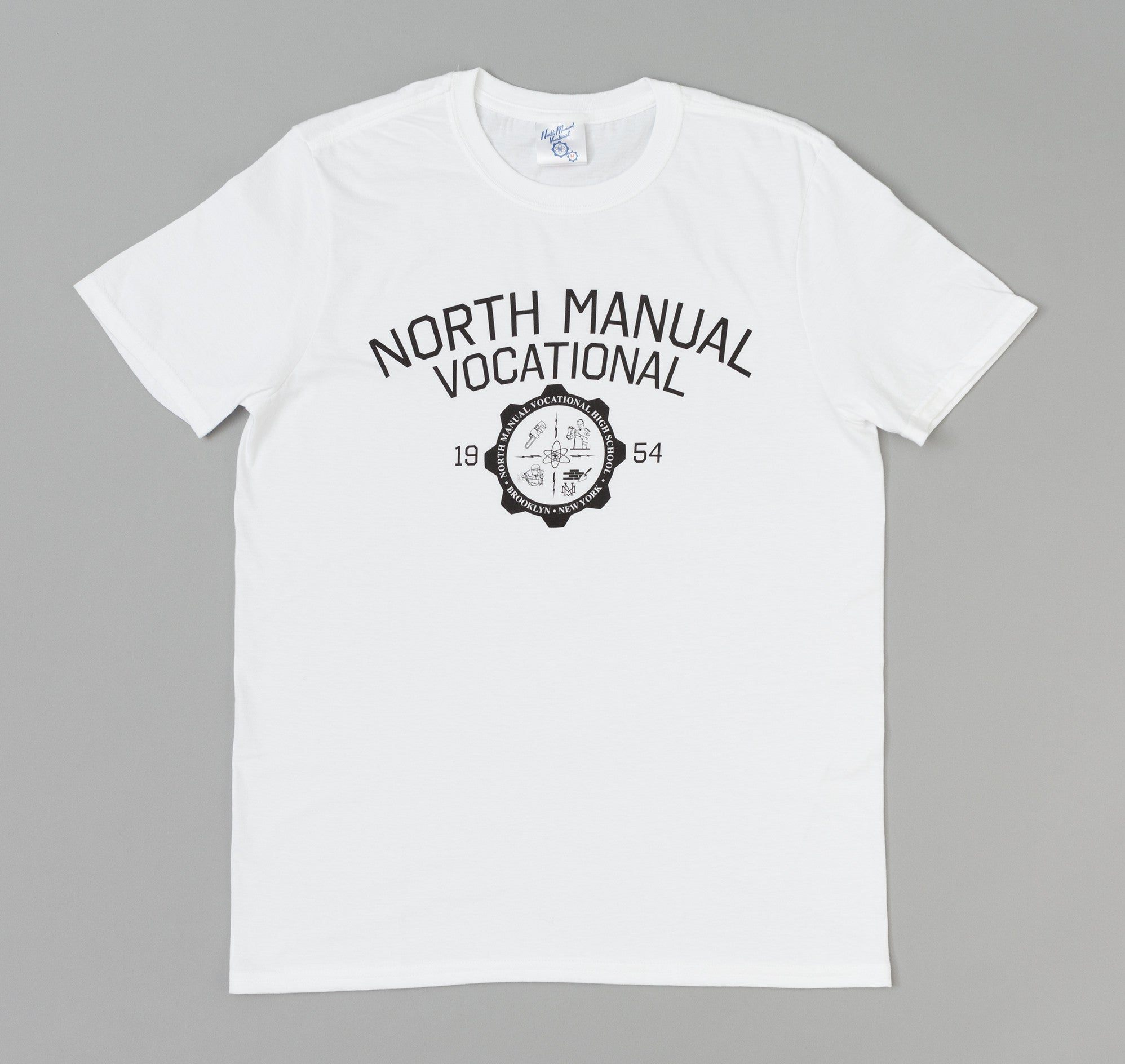 North Manual Vocational Crest T-Shirt, White