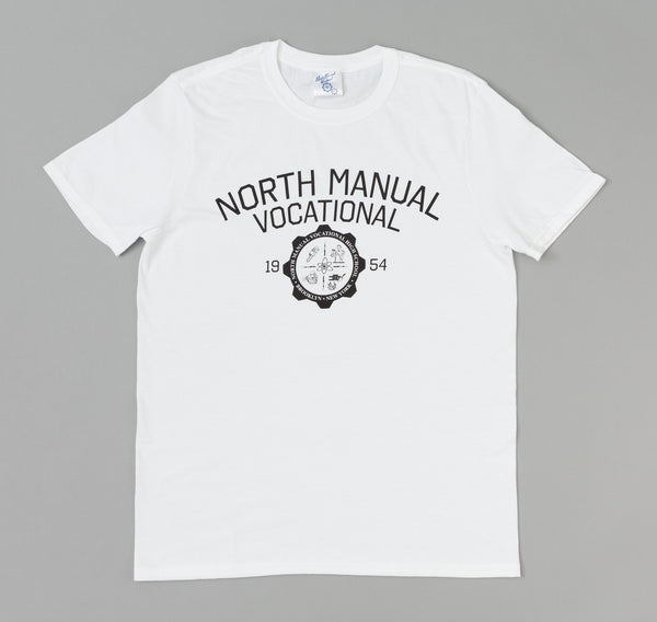 North Manual Vocational - Crest T-Shirt, White -
