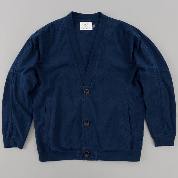 Older Brother - Cardigan, Indigo Seersucker - image 1