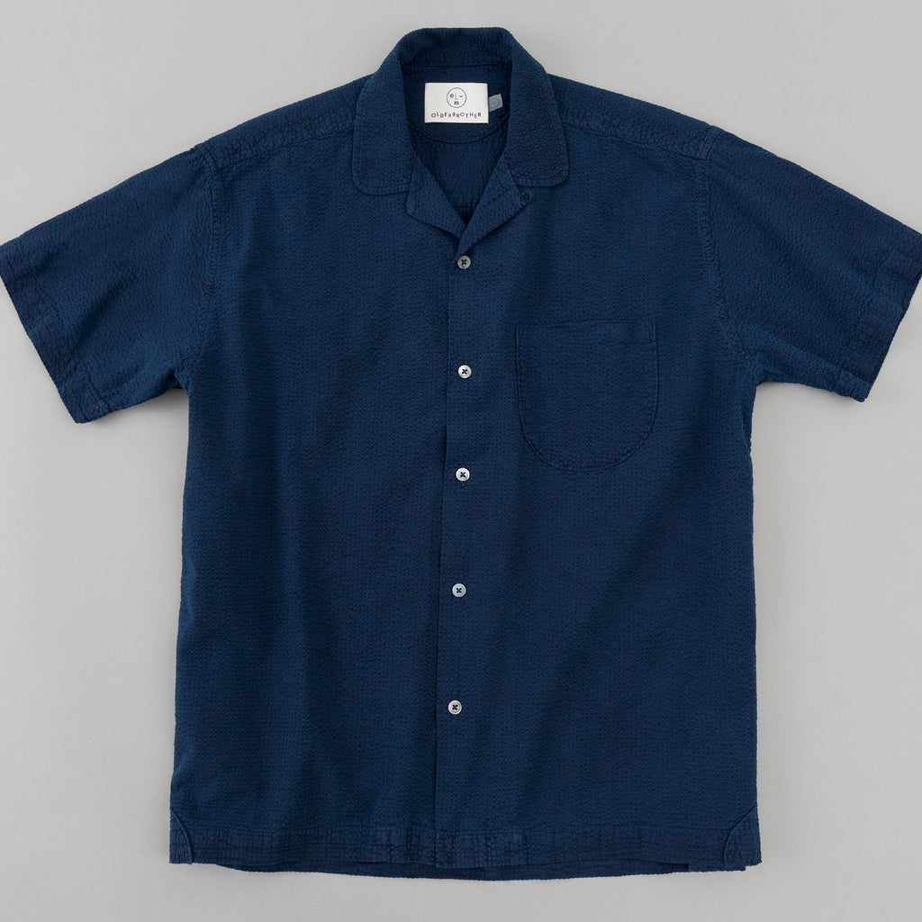 Older Brother - Geri Shirt, Indigo Seersucker - image 1