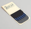 Father & Son Stripe Twill Iron-On Patches, Indigo / White