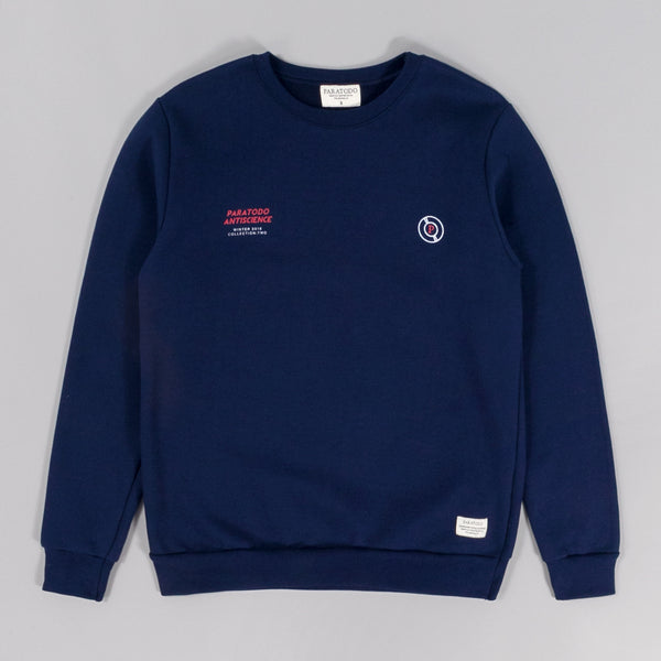 "Paratodo ""Antiscience"" Crewneck Sweatshirt, Navy"