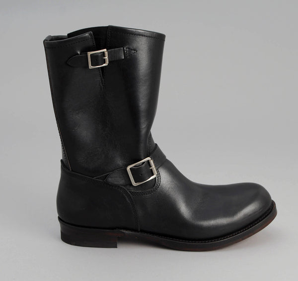 Phigvel Horsehide Engineer Boots, Black w/ Black Core