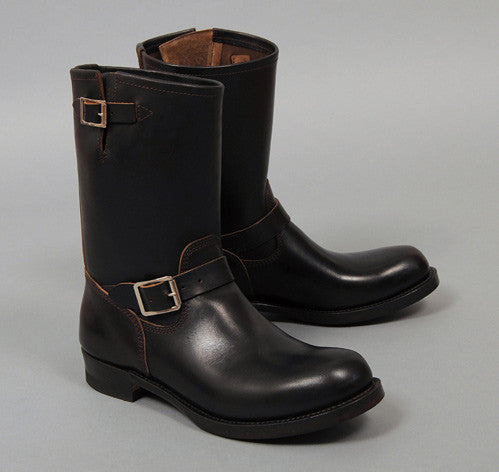 Phigvel - Horsehide Engineer Boots, Black w/ Brown Core - image 1