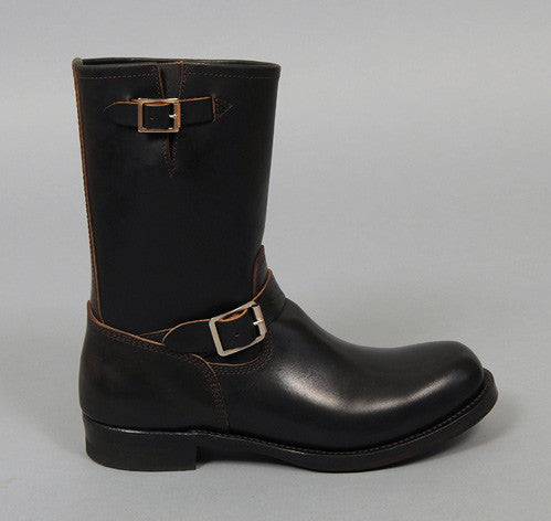 Phigvel - Horsehide Engineer Boots, Black w/ Brown Core - image 2