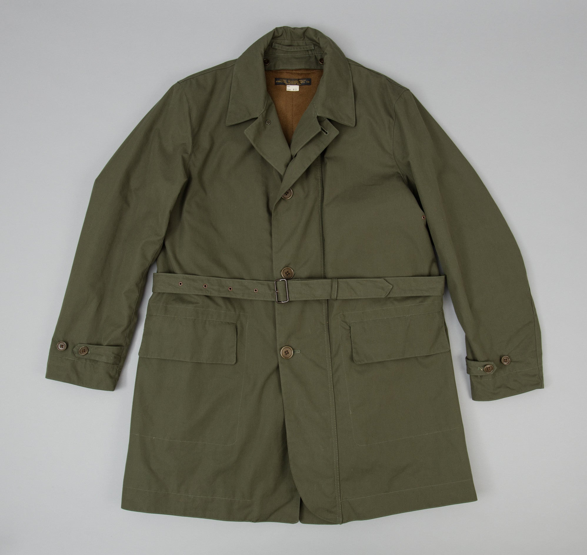 Cyclist Overcoat, Olive