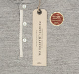Henley Neck Thermal Shirt, Top Grey