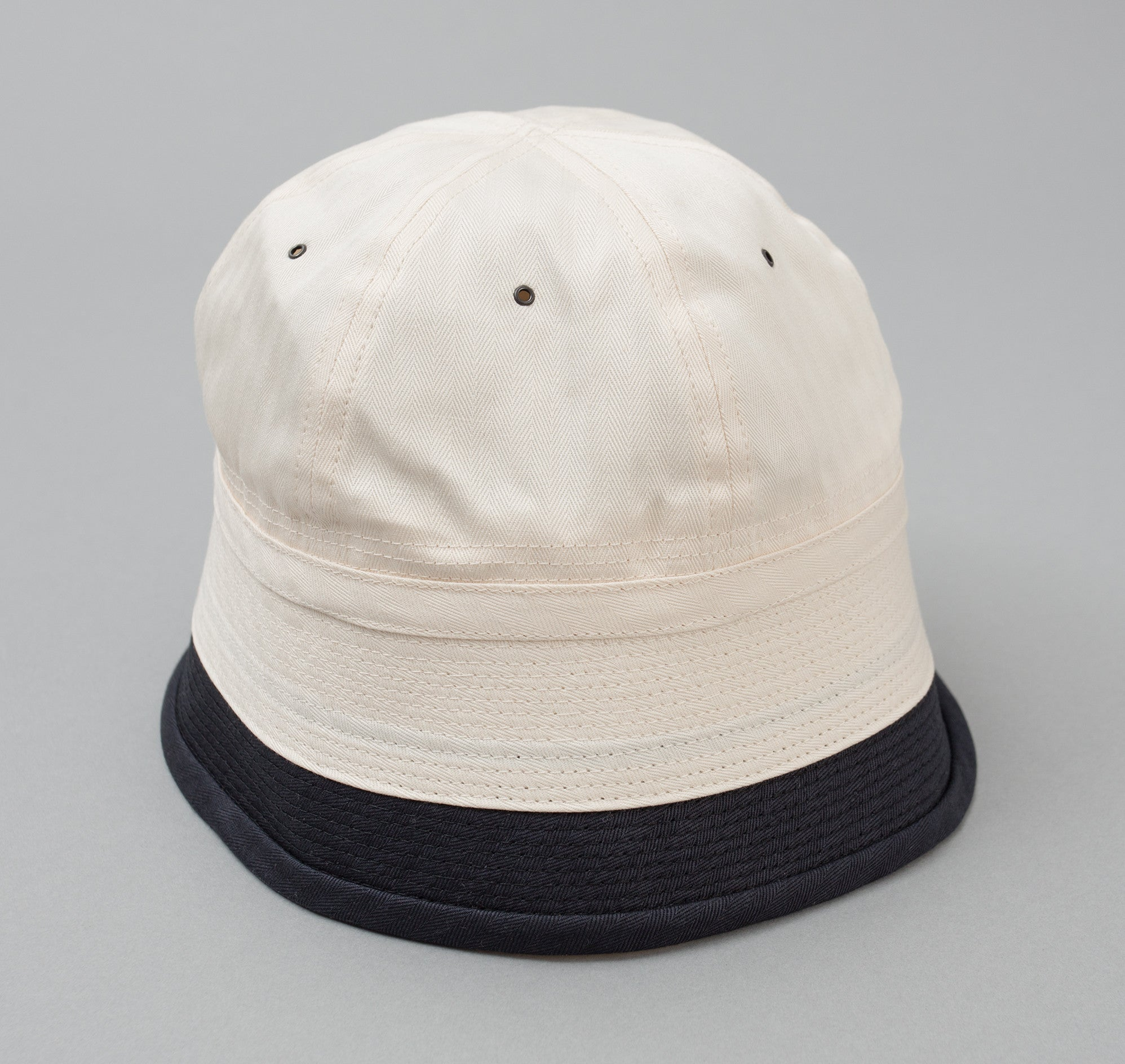 Naval Hat, Natural / Dark Navy