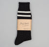 Wool Line Socks, Ink Black