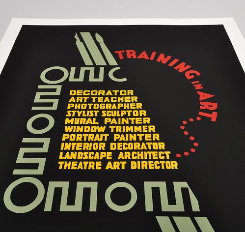"Posters of the WPA ""Training In Art"" Hand-Printed Poster"