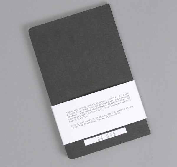 Public-Supply Dot Grid Notebook, Black 01