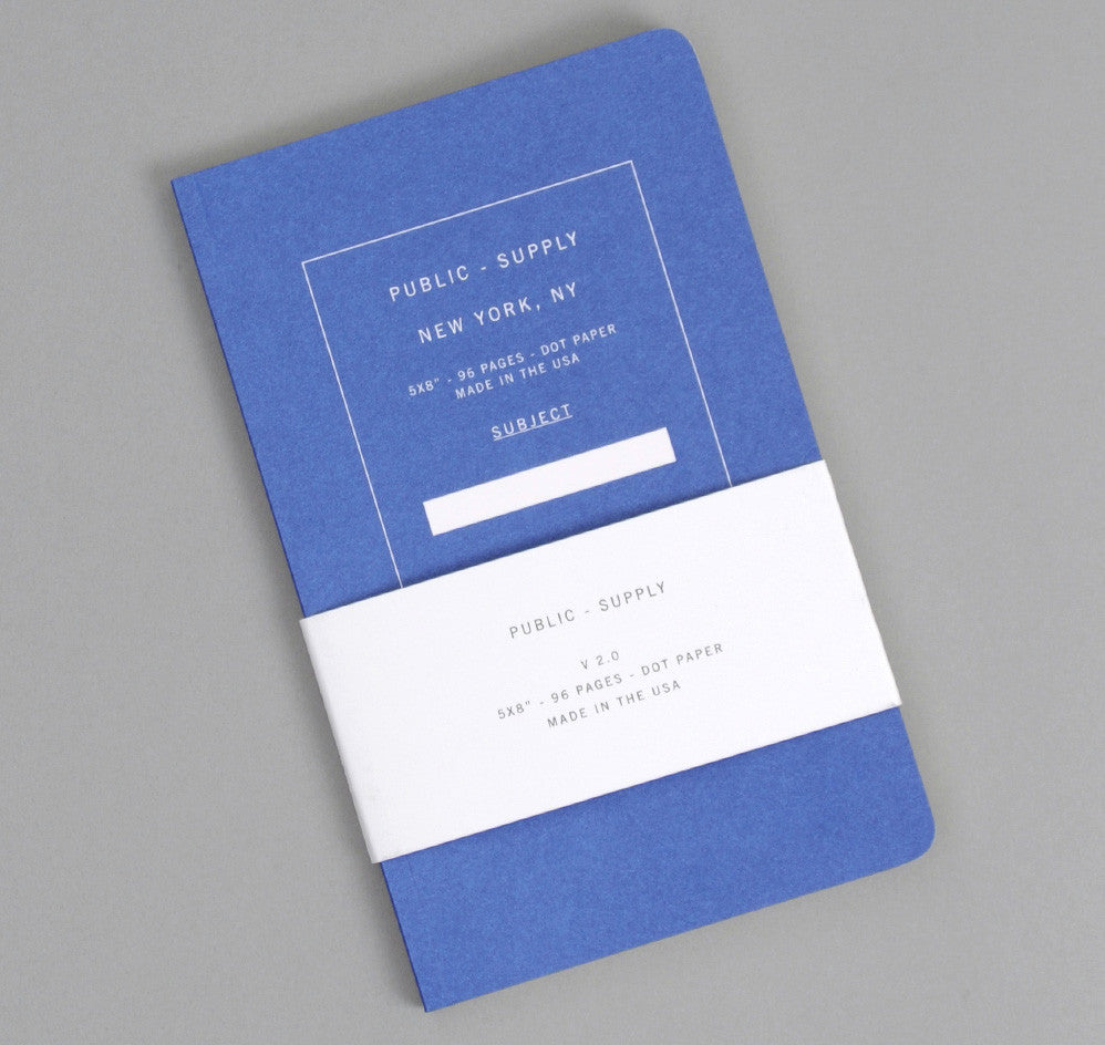 Public-Supply Dot Grid Notebook, Blue 02