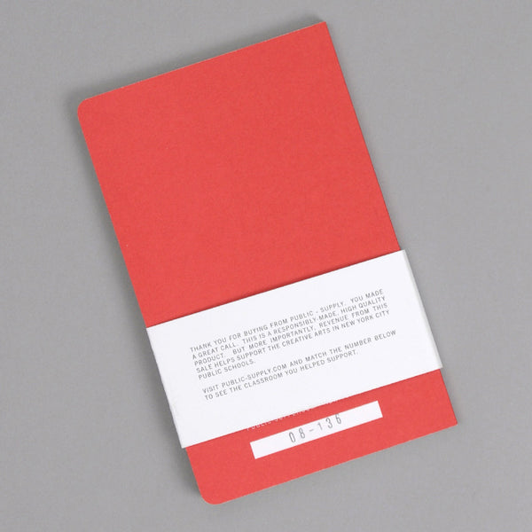 Public-Supply Dot Grid Notebook, Red 02