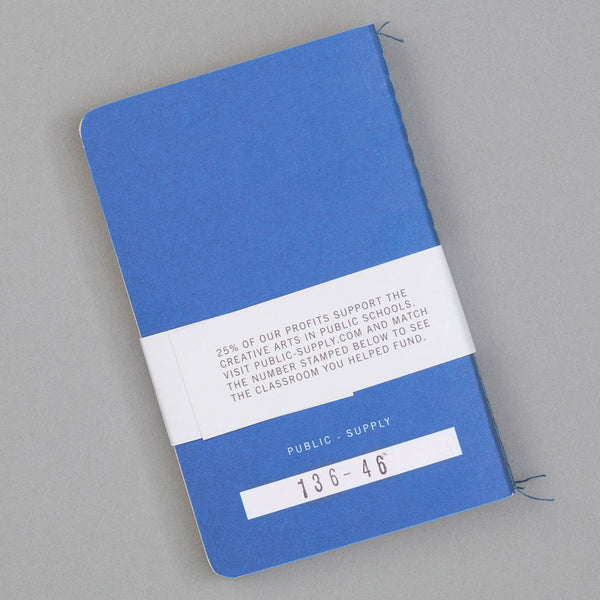 Public-Supply - Dot Grid Pocket Notebook 3-Pack, Blue 02 -
