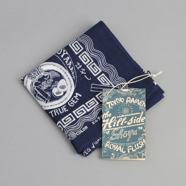 "The Hill-Side ""Tokyo Ramen Joints"" Souvenir Bandana, Navy"