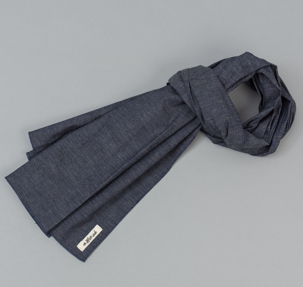Covert Chambray Scarf, Dark Indigo