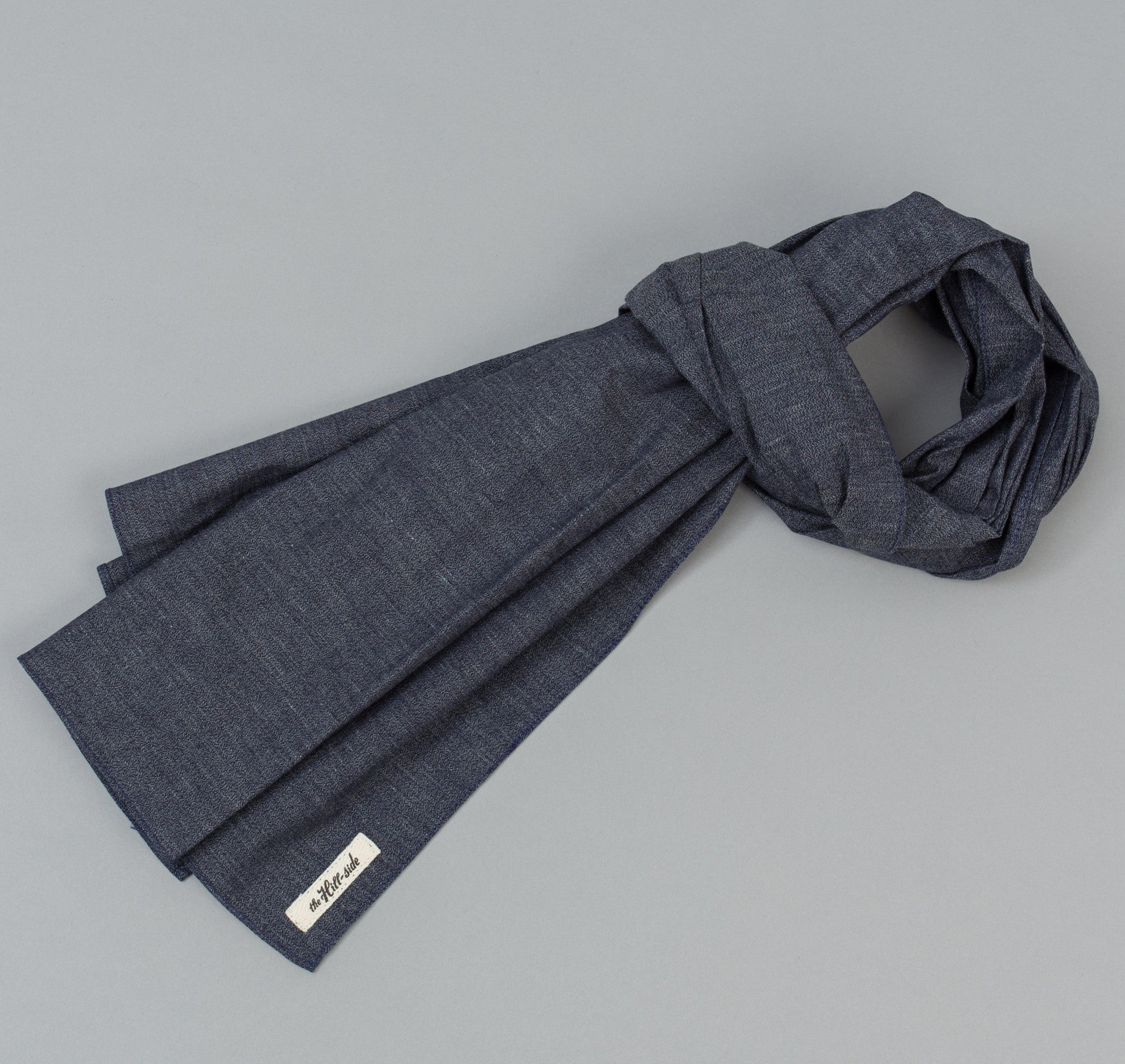 The Hill-Side Covert Chambray Scarf, Dark Indigo
