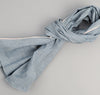 Selvedge Covert Chambray Scarf, Light Indigo