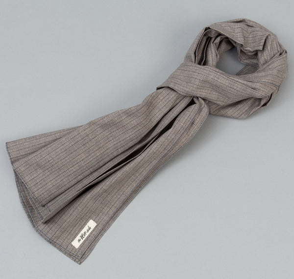 The Hill-Side Black & Tan Covert Stripe Scarf