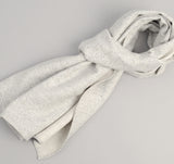 Cotton Blend Blanket Twill Scarf, Grey