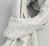 The Hill-Side Cotton Blend Blanket Twill Scarf, Grey