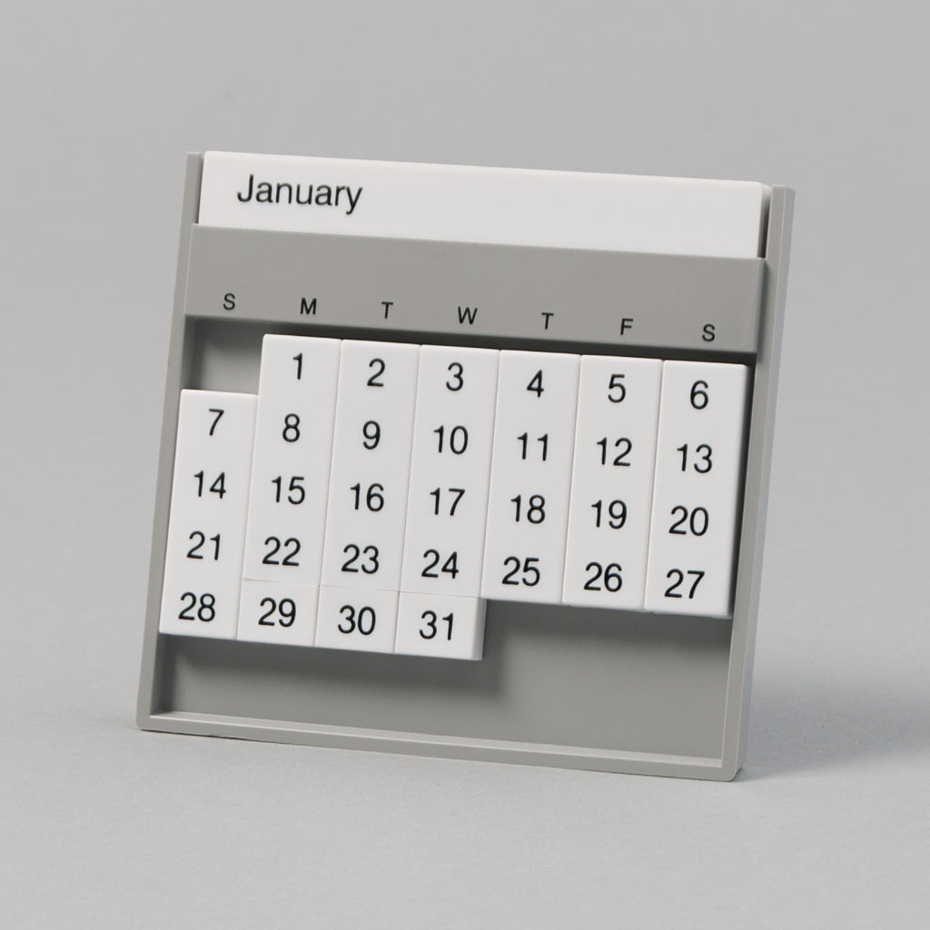 Slencil - The Always Calendar, Grey / White -