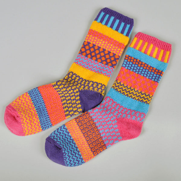 "Solmate Socks - ""Carnation"" Recycled Cotton Socks -"