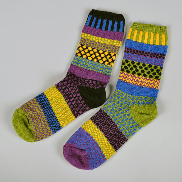 "Solmate Socks - ""October Morning"" Recycled Cotton Socks -"