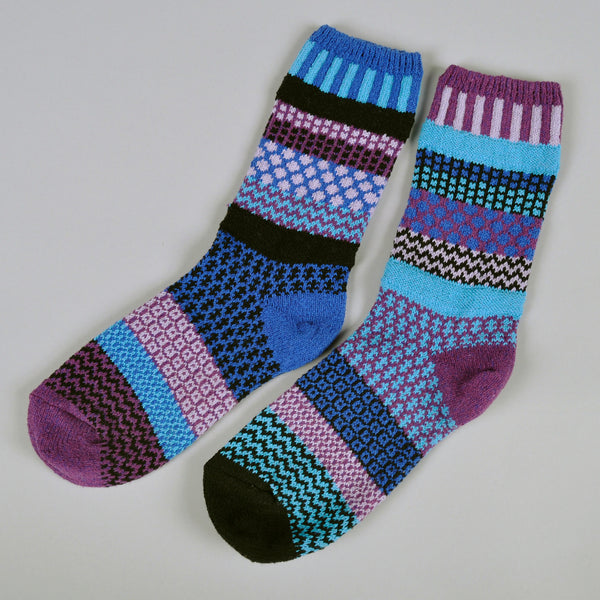 "Solmate Socks - ""Raspberry"" Recycled Cotton Socks -"