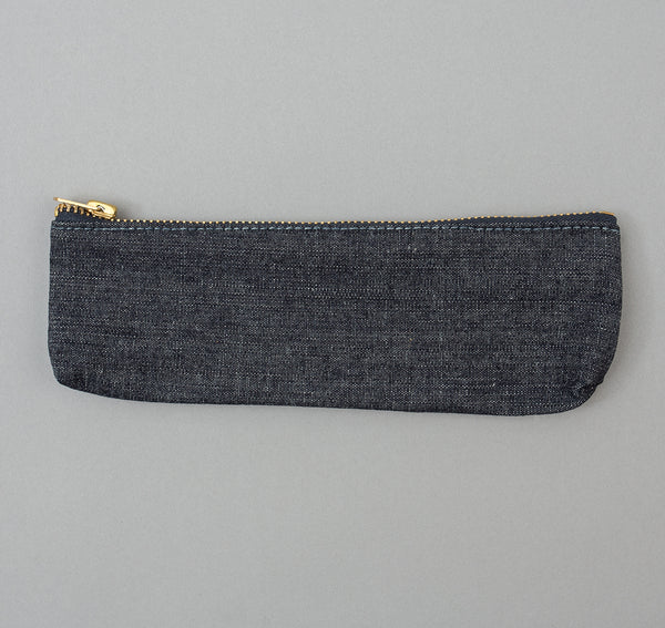 Stanley & Sons - Pencil Zip Pouch, Indigo Chambray - image 2