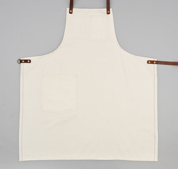 Stanley & Sons - Standard Apron w/ Leather Straps, Selvedge Natural Canvas - image 1
