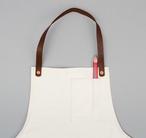 Stanley & Sons - Standard Apron w/ Leather Straps, Selvedge Natural Canvas - image 2
